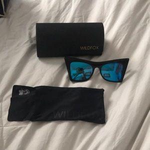 Wildfox Blue Reflection Sunglasses